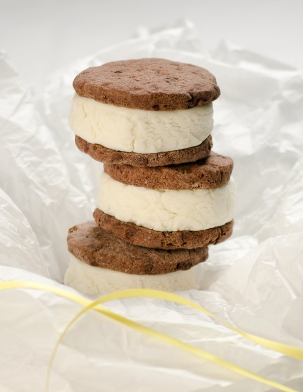 Stack of Mapleton's Organic Ice Cream Sandwiches