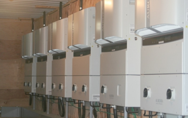 Some of the inverters for the system.