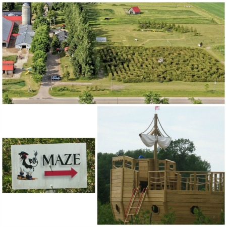 Cedar Hedge Maze and Pirate Ship at Mapleton's